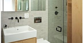Diseño de pequeño cuarto de baño moderno