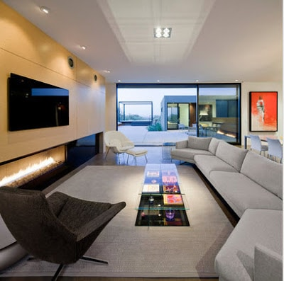 Sala estar diseño  Ibarra Rosano Design Architects