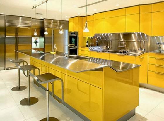 Diseño de hermosa barra de cocina brillante (1)