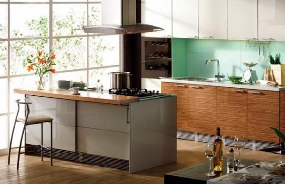 Diseño de isla de cocina moderna