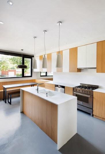 Diseño de isla minimalista para cocina