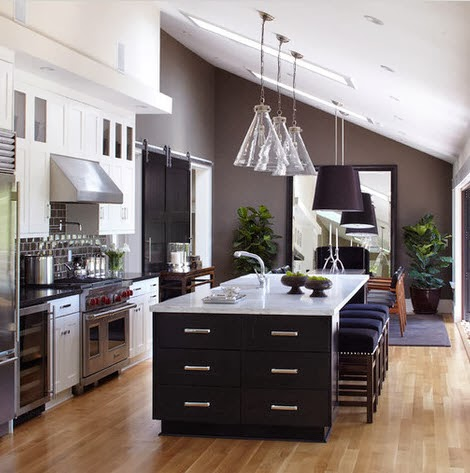 Design of large kitchen islands