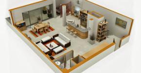 Diseño de mini departamento 3dmdigital