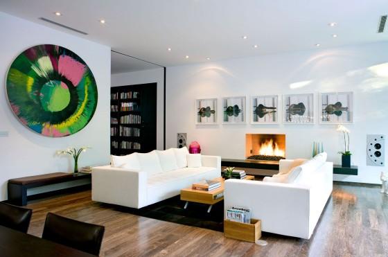 Dise o de moderna casa de dos pisos planos construye hogar - Cuadros para casas modernas ...