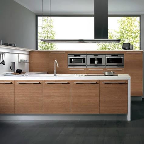 Diseño de mueble de cocina de madera