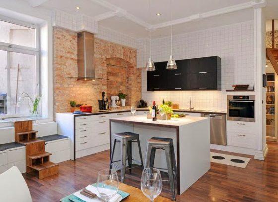 Isla de cocina minimalista