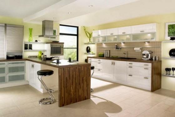 Isla senciila para cocina en madera