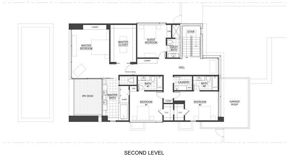 Dise o de moderna casa de dos pisos planos construye hogar for Plantas de casas de un piso