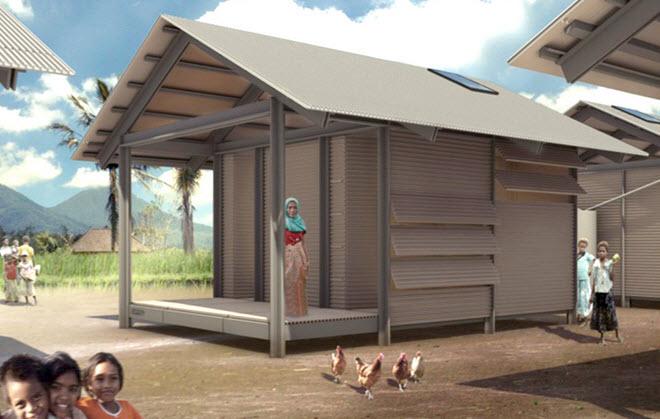 Casa hecha de pl sticos reciclados de vertederos for Como se disena una casa