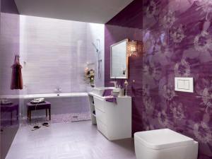 Cerámicas de cuarto de baño color lila