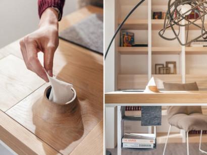 Destalles de la mesa de pequeño apartamento