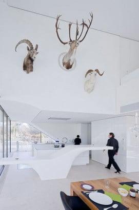 Diseño de cocina blanca ultramoderna