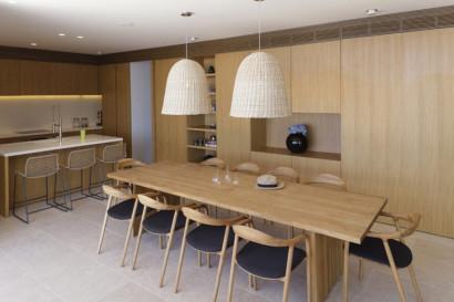 Diseño de cocina comedor para casa de playa