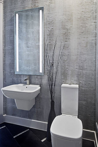 Cuartos De Baño Suelo Gris:Puedes ver mas diseños de cuartos de baño desde el sitio: zillowcom