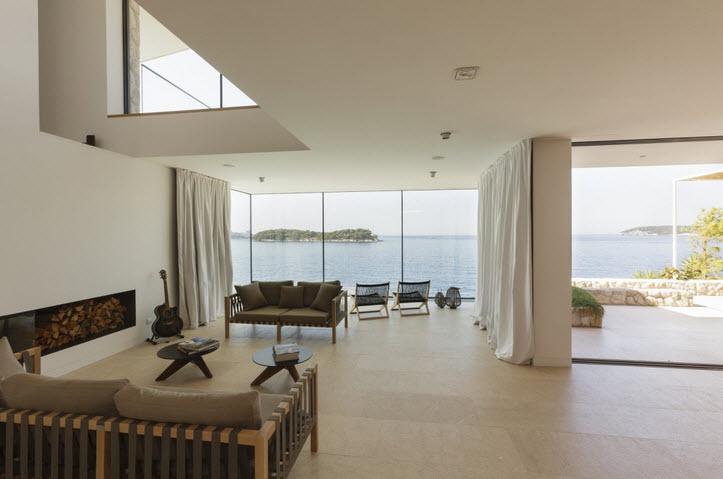 Diseño de interiores de casa de playa Sala  Construye Hogar
