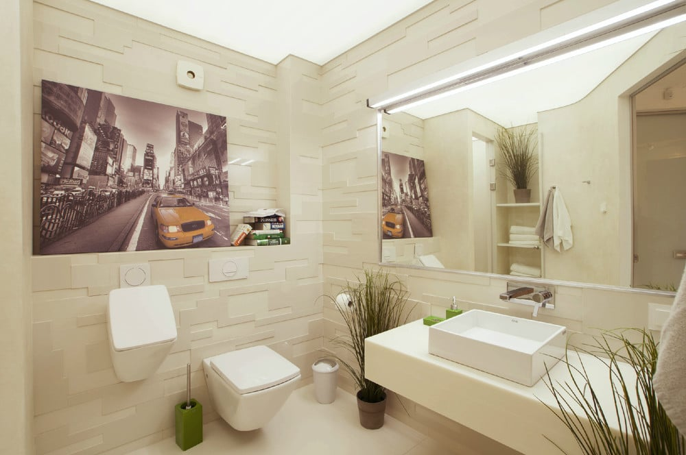 Dise o de penthouse ultra moderno decoraci n de for Ver fotos de cuartos de banos modernos