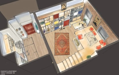 Plano de apartamento pequeño Charlie  apartment