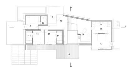 Plano de casa de playa- segundo  piso