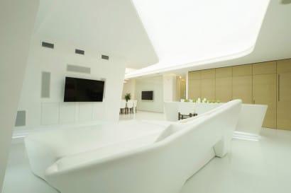Ultra modena Sala de penhouse