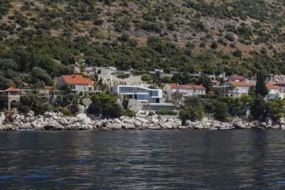 Vista desde el mar de la casa de playa