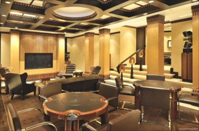 Salón de reuniones de casa de millonarios