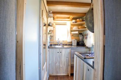 Vista de cocina en espacio muy pequeño