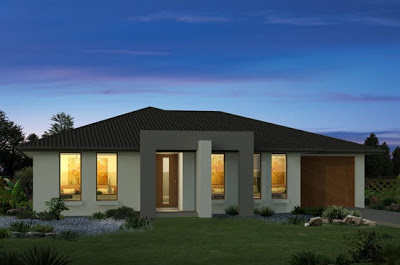 Sencilla casa de dos pisos con planos y dise o de for Casa moderna un piso
