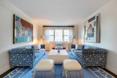 Decoración de interiores apartamento muebles azules