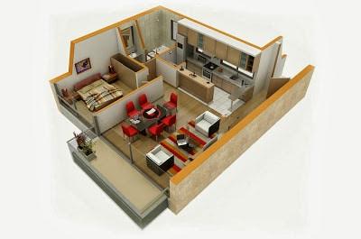 Plano de casa cuadrada modelos construye hogar for Plano de casa 3d