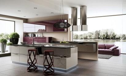Diseño de cocina contemporánea al estilo arte pop