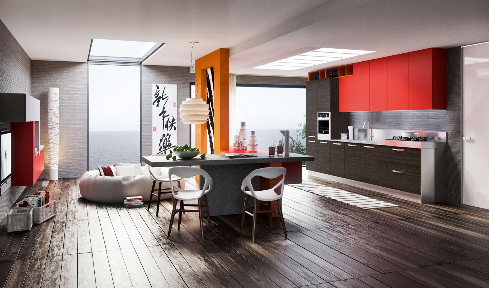 Dise o de cocinas modernas al estilo arte pop construye - Diseno de interiores para cocinas ...
