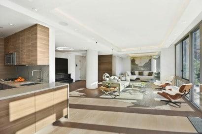 Diseño de interiores de apartamento cocina comedor sala