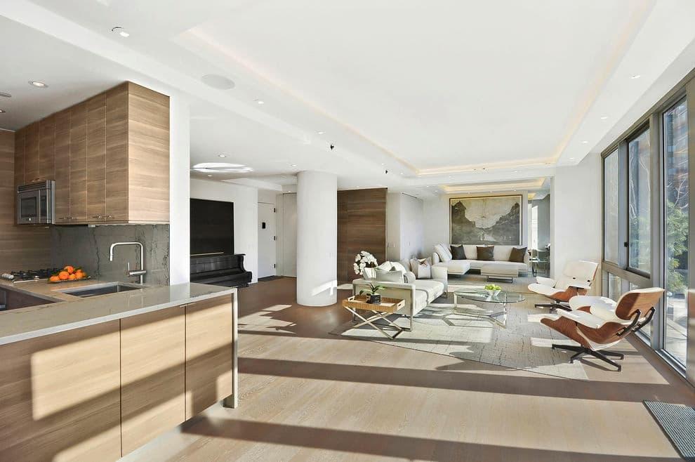Dise o de interiores de apartamento cocina comedor sala for Comedor cocina de diseno