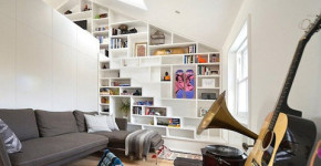 Diseño de mini apartamento en color blanco