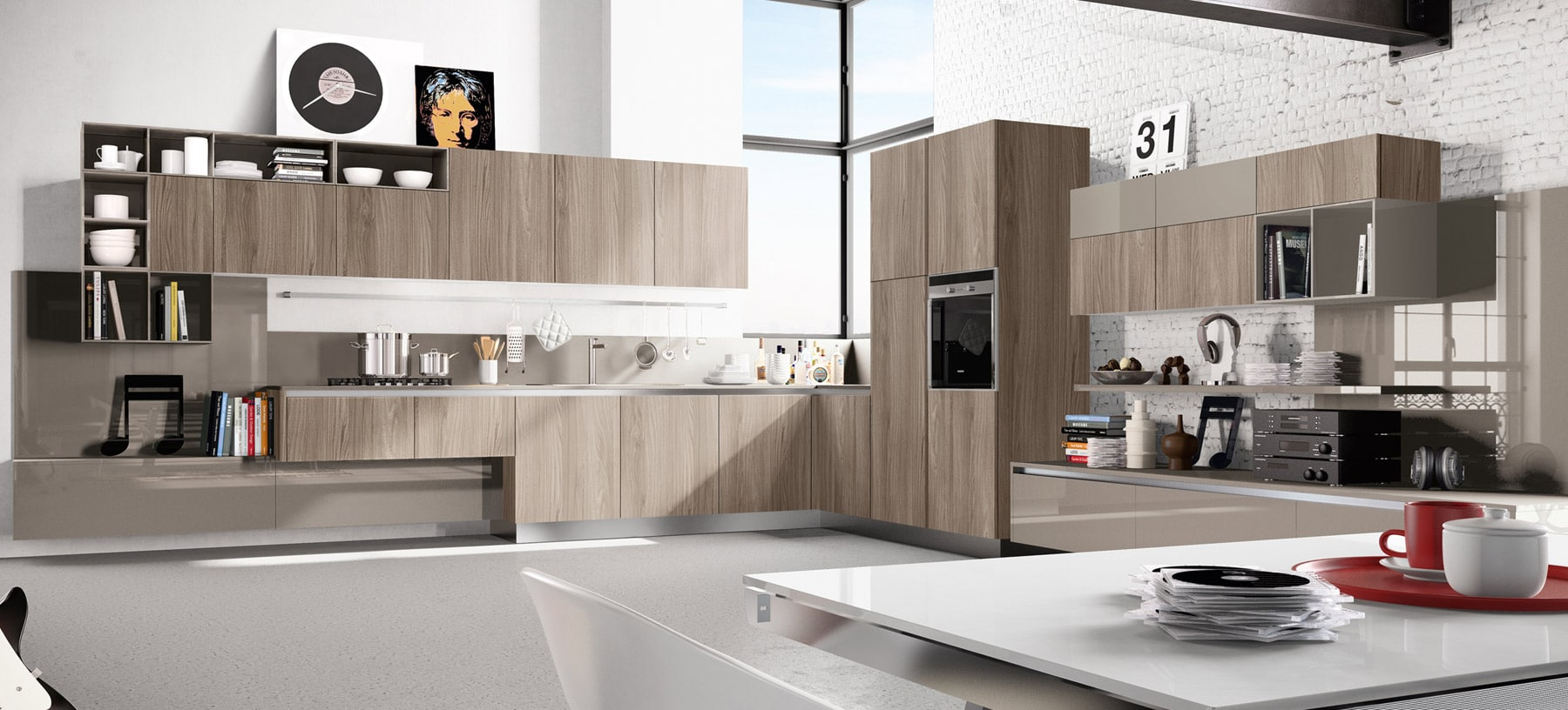 Dise o de cocinas modernas al estilo arte pop construye for Photos of new kitchen designs