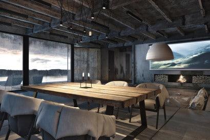 Diseño de sala estilo industrial