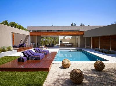 diseo de casa moderna en forma de u fachada e interiores fotos