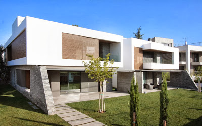 diseo de dos casas modernas en un slo terreno planos y diseo interior