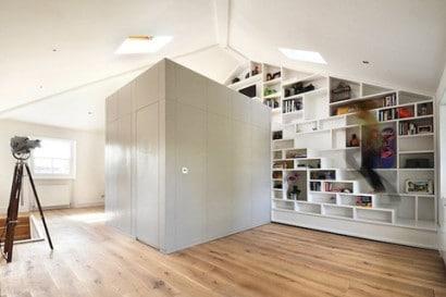 Modulo para mini apartamento de madera