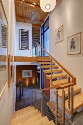 Decoración de interiores de escalera