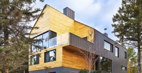 diseo de casa moderna de dos pisos ms stano inspirada en un granero