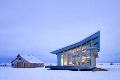 Diseño de casa pequeña en la nieve