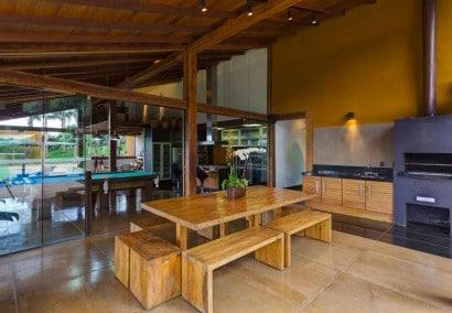 Diseño de cocina comedor casa de campo