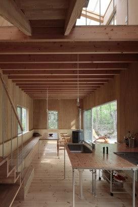 Diseño de cocina comedor de madera