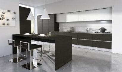 Diseño de cocina moderna en negro 6
