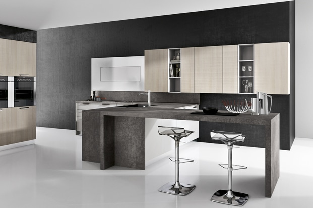 Dise o de cocinas modernas modelos simples y elegantes for Modelos de cocina comedor pequenos