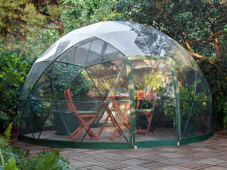 Dise o de domo para terraza o jard n de casas fotos y for Estructuras de jardin