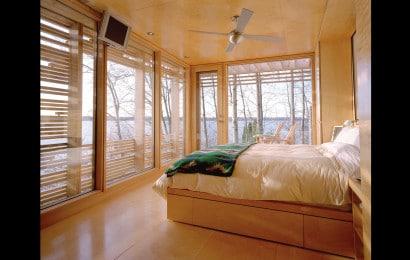 Diseño de dormitori de casa de madera