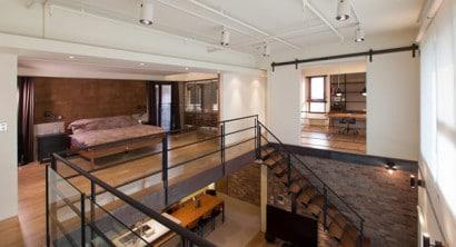 Diseño de dormitorio de apartamento