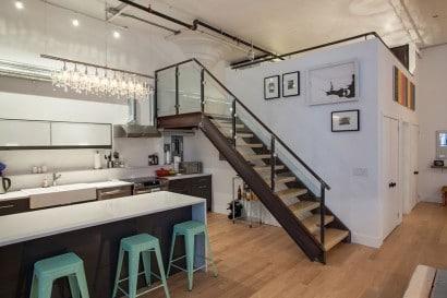 Diseño de escalera de apartamento